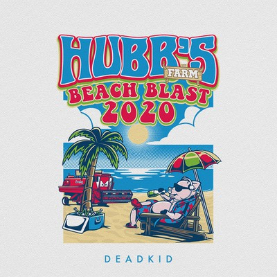 Design a classic beach blast music festival tshirt for a farm venue
