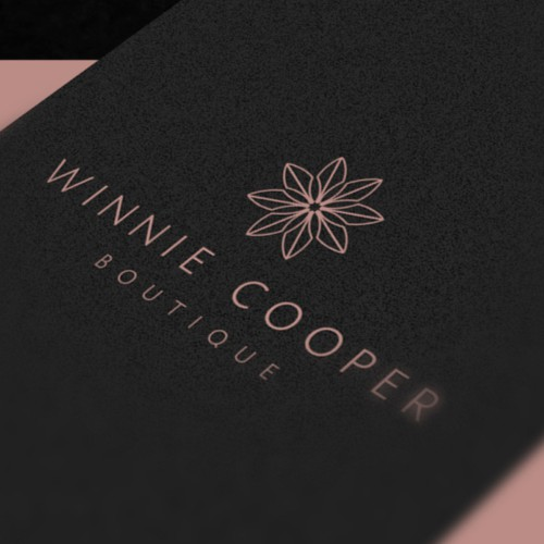 Shopping logo with the title 'Winnie Cooper Logo'