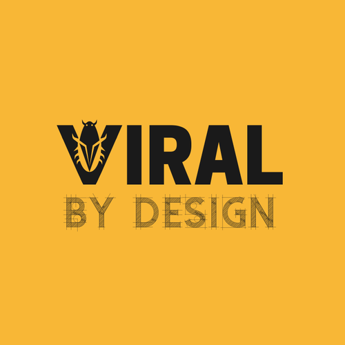 Monochrome brand with the title 'Logo for a Viral business'