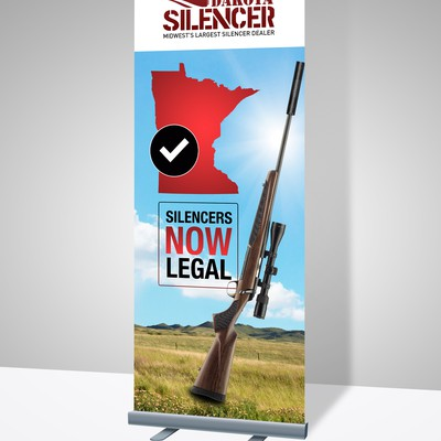Banner design for Dakota Silencer.