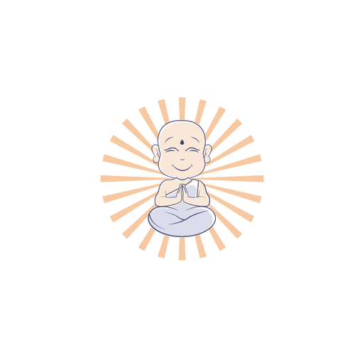 Buddha logo with the title 'Logo for child meditation'