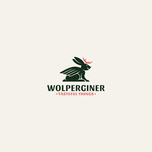 Gin logo with the title 'Wolpertinger logo'
