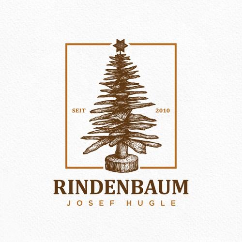 Pine tree design with the title 'Bork Tree'
