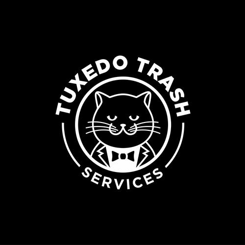 Tuxedo logo with the title 'Tuxedo Trash Services Logo'
