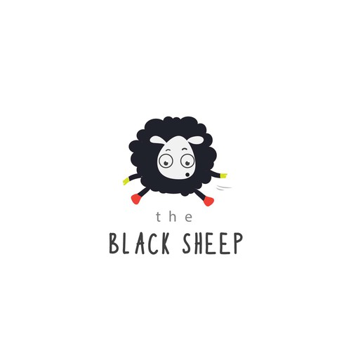 Leap logo with the title 'Black Sheep logo design'