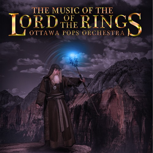 Fantastic design with the title 'Poster for The Music of the Lord of the Ring'
