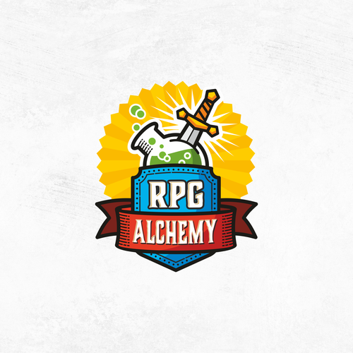 Barbarian logo with the title 'logo for Tabletop Roleplaying Blog - RPG Alchemy'
