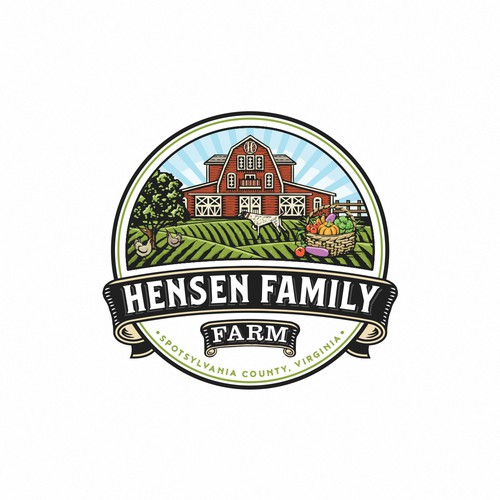 Crest logo with the title 'Hensen Family'