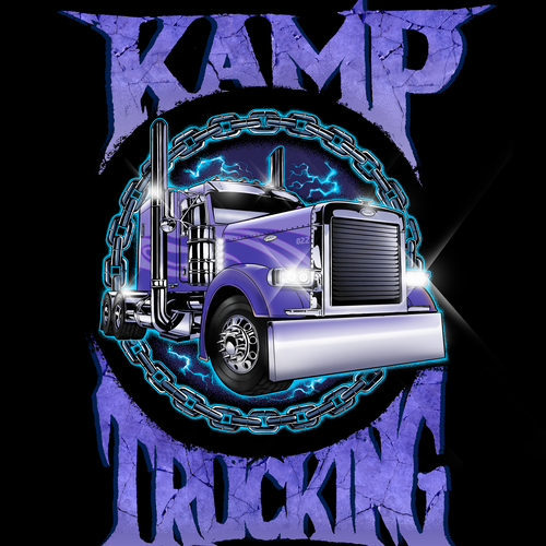 T-shirt with the title 'Kamp Trucking '