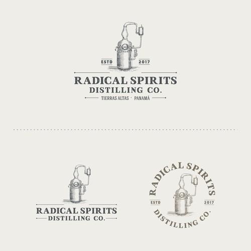 Premium design with the title 'Logo Radical Spirits'