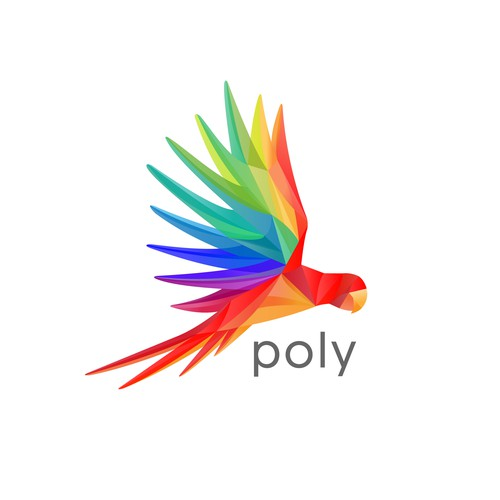 Parrot logo with the title 'Poly - a social photo sharing app for travelers'
