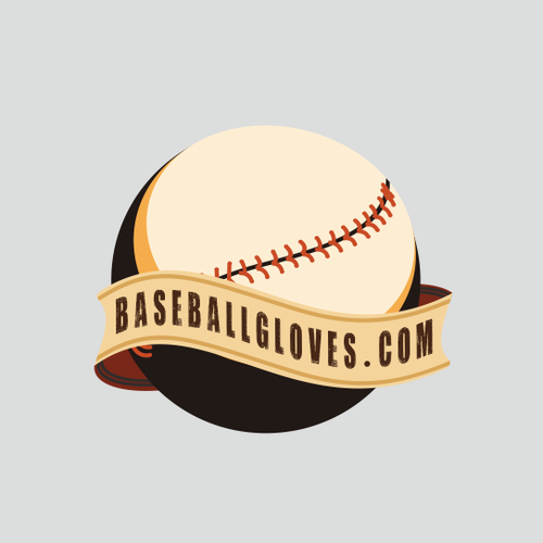 Glove logo with the title 'Logo Pair - Make this your next great portfolio piece!  BaseballBats.net & BaseballGloves.com'