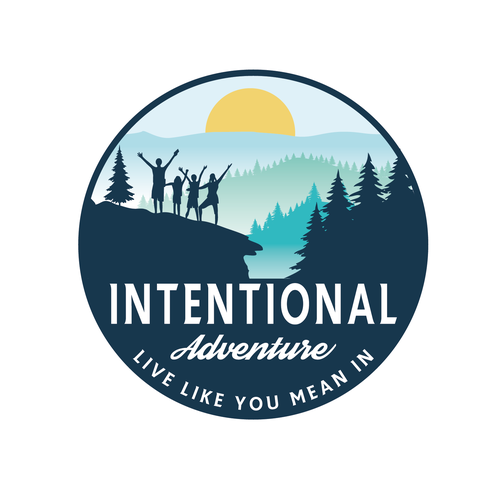 Influencer logo with the title 'Intentional Adventure'
