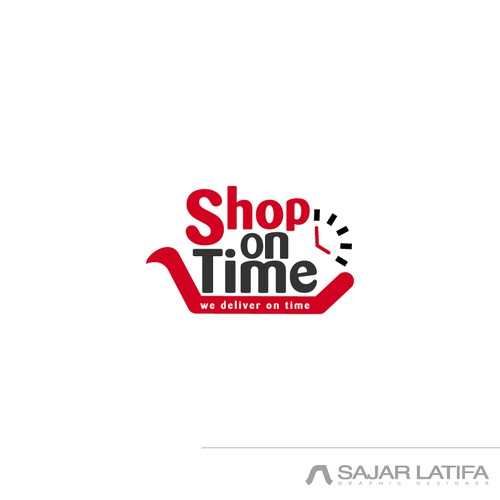 Shop logo with the title 'shop on time'
