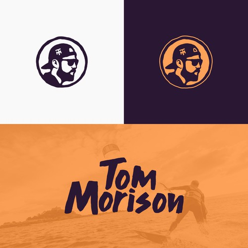 Abstract wave logo with the title 'Tom Morison '