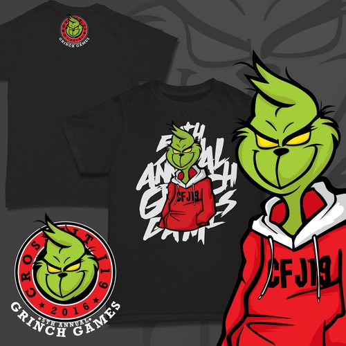 "Christmas t-shirt with the title 'Entry for ""the Grinch"" Themed T-shirt'"