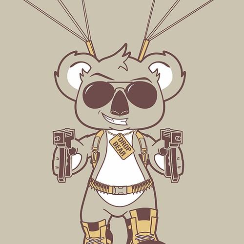 Koala design with the title 'Drop Bear'