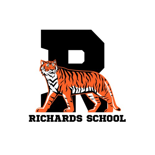 Feline logo with the title 'Richards School'