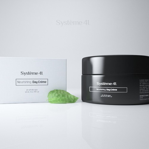 Natural cosmetics packaging with the title 'Systéme 41 Packing design'