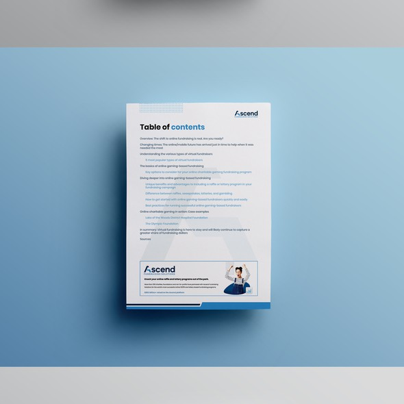 PDF design with the title 'Design an impressive eBook/guide for a growing tech company'