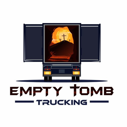 Trucking design with the title 'EMPTY TOMB TRUCKING'