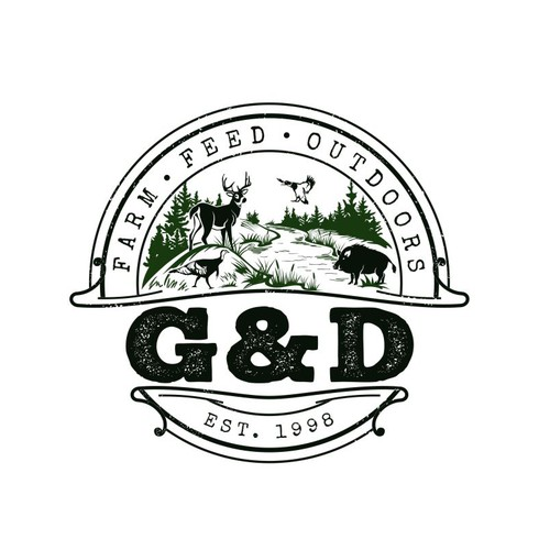 Wildlife logo with the title 'Outdoor store logo'