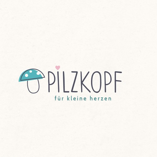 Mushroom logo with the title 'Pilzkopf'
