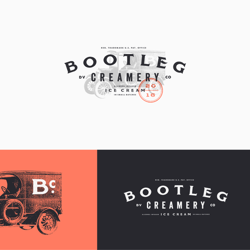 Alcohol design with the title 'Bootleg Creamery'