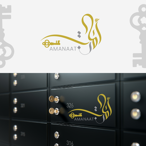 Ink brand with the title 'logo for safety deposit box company'