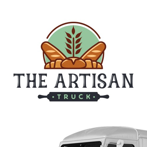 Truck logo with the title 'The Artisan Truck'