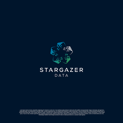 Bright star logo with the title 'Logo for Stargazer data'