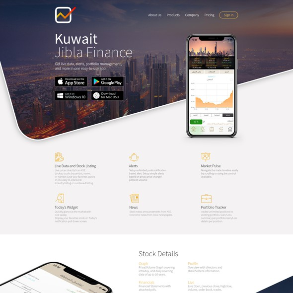 SaaS design with the title 'Homepage Redesign for Jibla Finance'