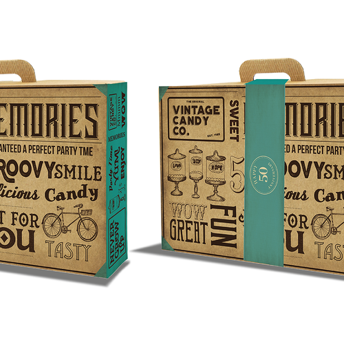 Funny packaging with the title 'vintage box as a present for people from 50 yrs old'