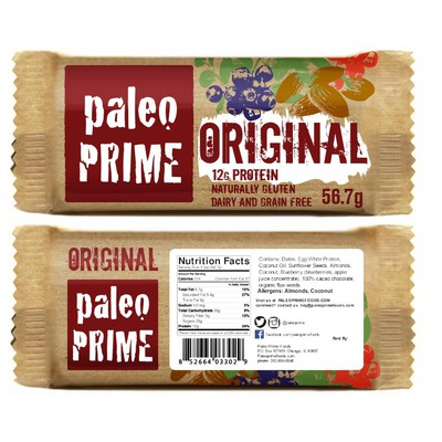 Design our Paleo Protein bar wrap