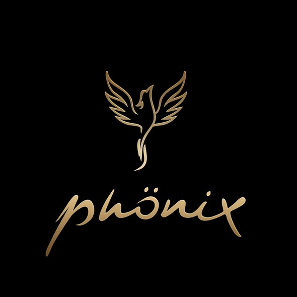Phoenix design with the title 'Phoenix bird logo'