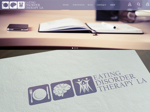 Plate logo with the title 'Branding for Eating Disorder Treatment Group'