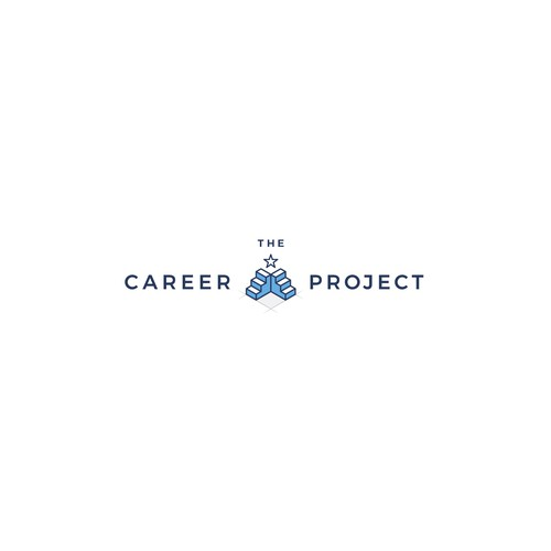 Blueprint logo with the title 'Cool stylish logo design concept for the career project'