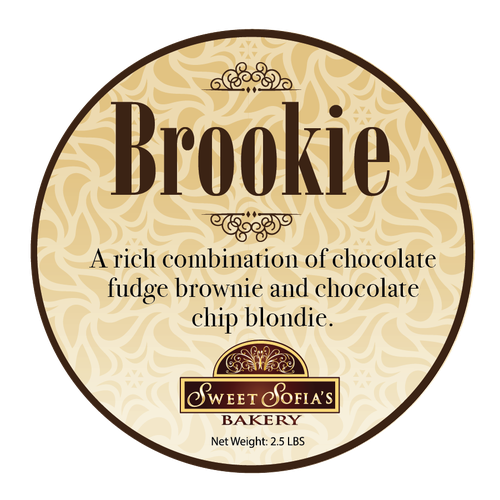 Chocolate design with the title 'Luxury Label for Brownies'