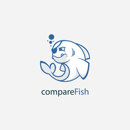 Tail design with the title 'Logo for startup compareFish'