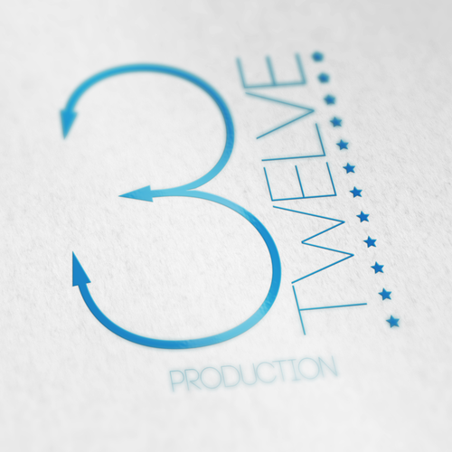 Log logo with the title 'Logo for media production company Three Twelve'