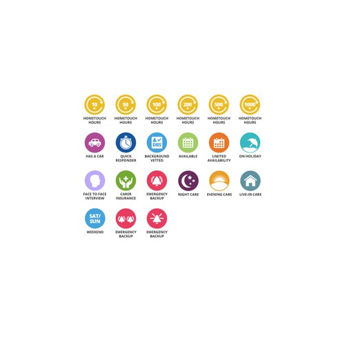 Badge design with the title 'Icons for health care company'