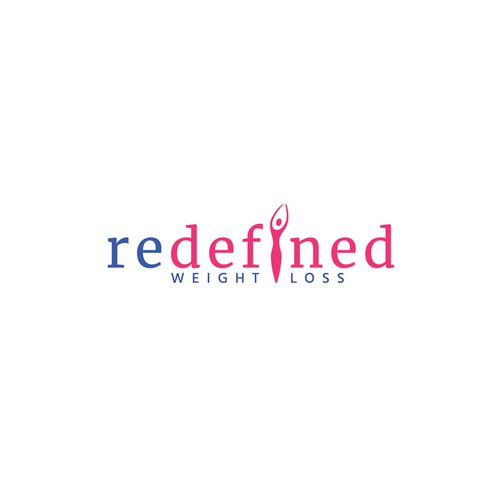 Weight loss logo with the title 'Logo design for redefined'
