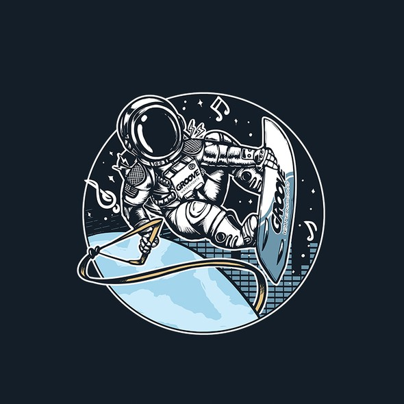 Awesome t-shirt with the title 'Groove Astronaut'