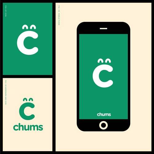 App brand with the title 'Chums — ChumsReferral.com'