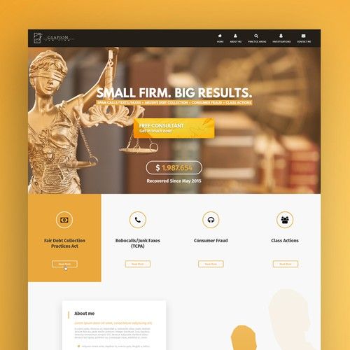 Firm design with the title 'Lawyer Studio Web Design'