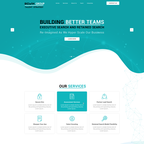 Consultant website with the title 'Bigwin Group'
