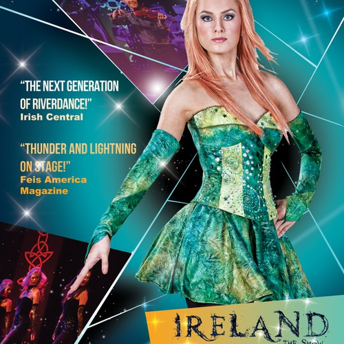 Ethereal design with the title 'IRELAND- THE SHOW!'