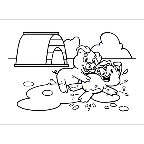 Ink artwork with the title 'Coloring Pages For Kids'