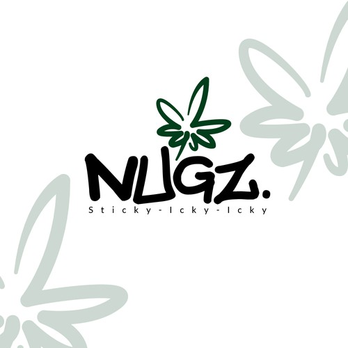 Agricultural design with the title 'A logo for NUGZ. with cannabis leaf'