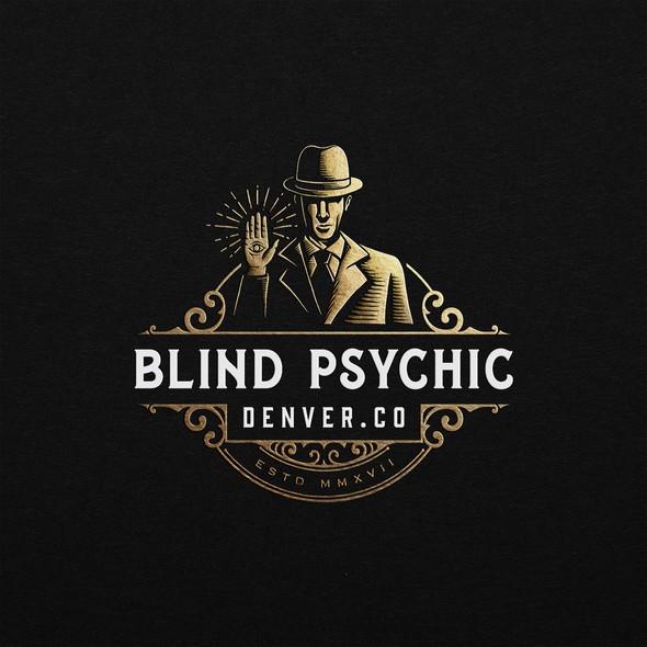 Illuminati design with the title 'BLIND PSYCHIC LOGO PROPOSAL'